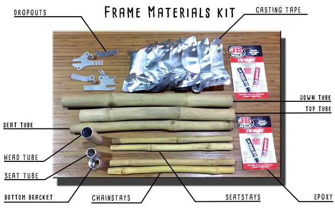 Build your own bamboo bike kit for Materials needed to build a house