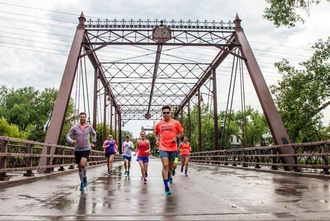 Fitsok sponsors community running clubs, here in Minneapolis