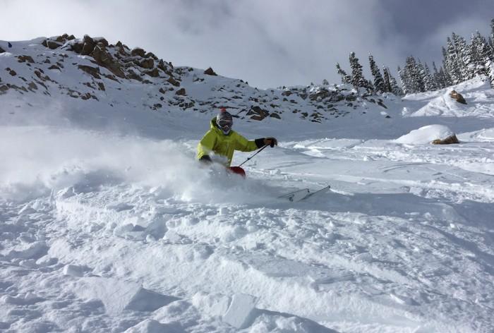 skier action