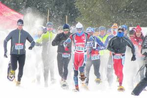 snowshoe race start