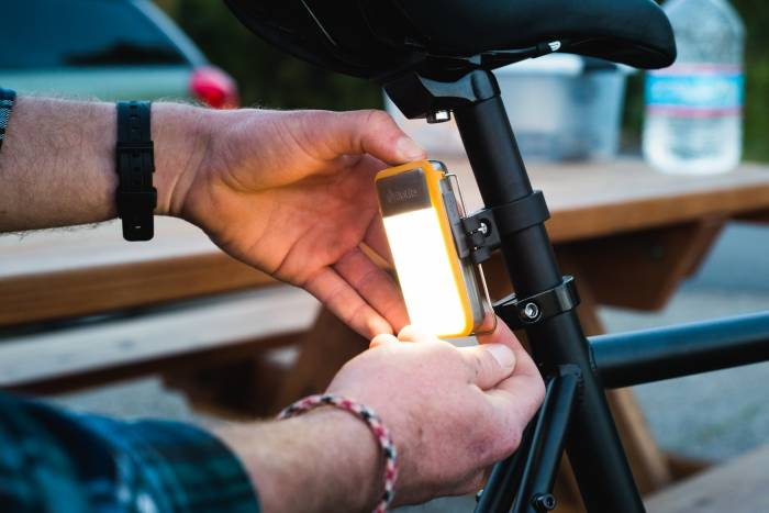 Cyber Monday Sales: BioLite powerlight mini on bike
