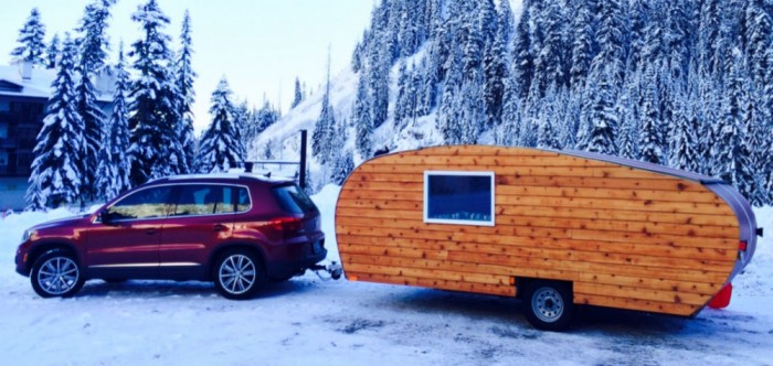 homegrown wood panel camper