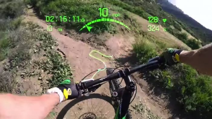 Fighter Jet Heads-Up Display For Cycling Eyewear