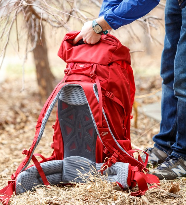 lowe alpine red backpack