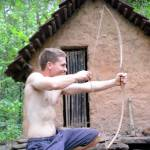 make primitive bow and arrow
