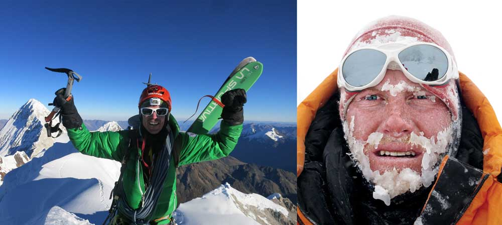 Ballinger, left, and Richards, left will Snapchat their Everest climb