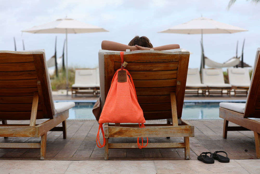 Traveling? This Drawstring Backpack Is 'Theft-Proof'