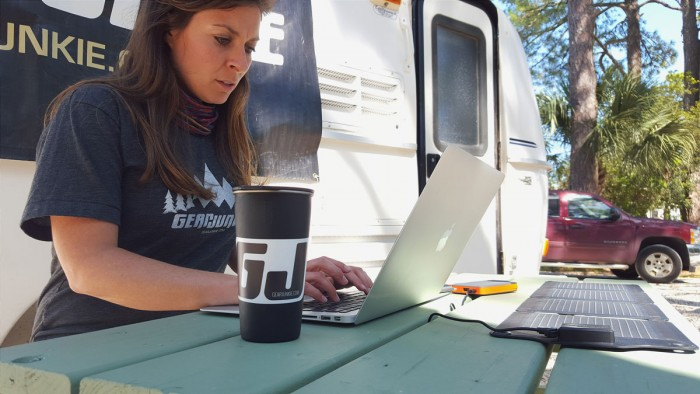 Working in a mobile office
