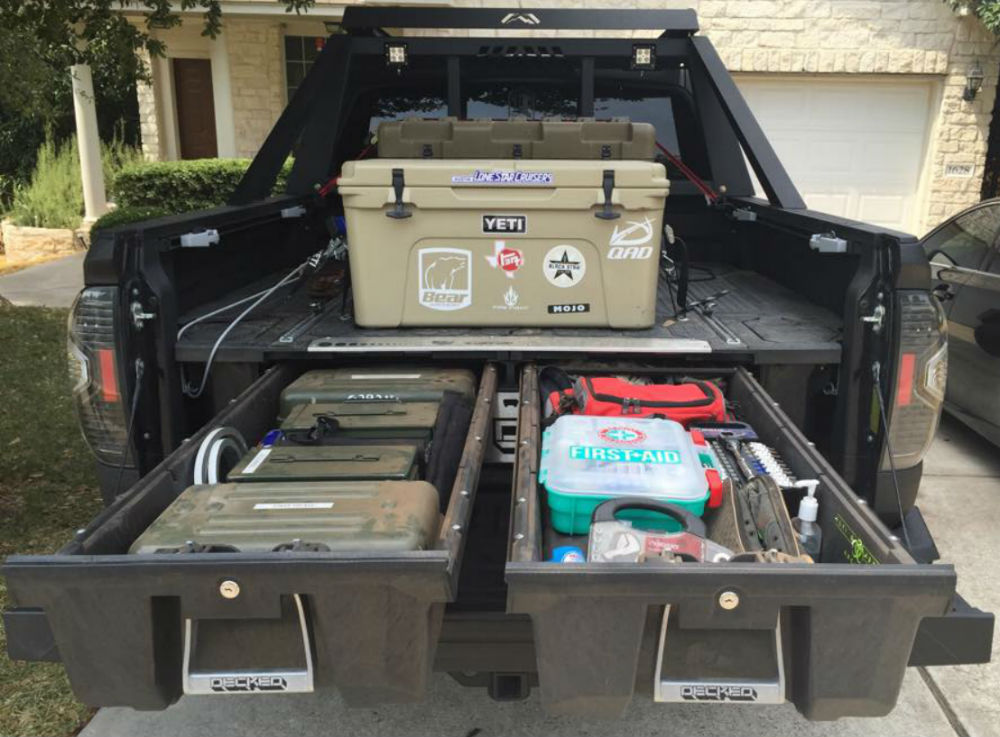 Get organized eco friendly drawers declutter your rig gear junkie - Truck bed storage ideas ...