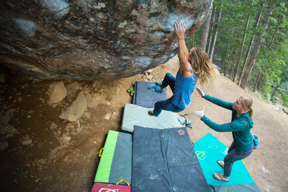 women bouldering