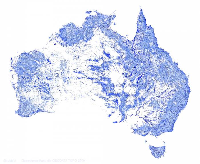 austrailia streams mapped