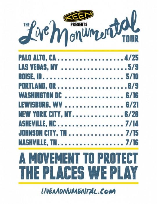 live monumental tour
