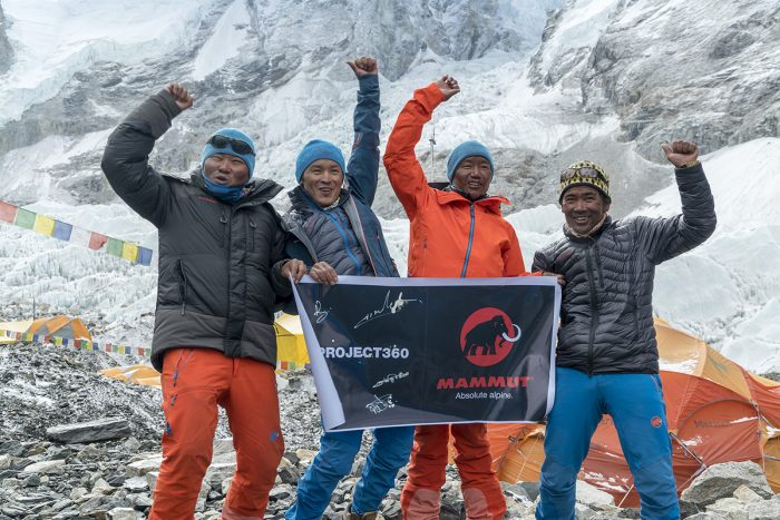 #project360 Everest team after the successfull ascent on May 19, 2016 From left to right: Lakpa Sherpa, Ang Kaji Sherpa, Pemba Rinji Sherpa and Kusang Sherpa