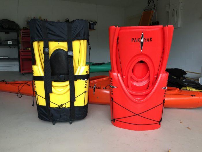 pakayak kayak folded down