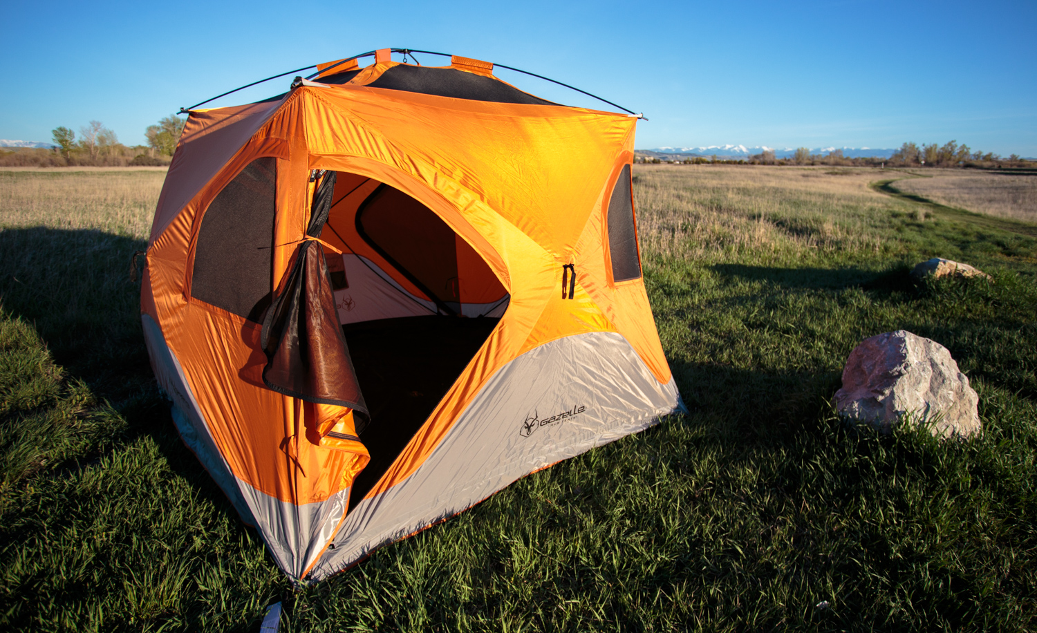 Pop Up Tent Shelters : First look gazelle pop up tent is family size palace