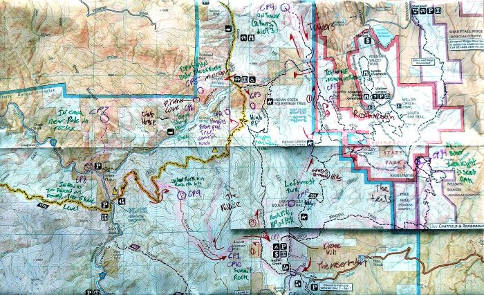 Map of Niwot's Challenge course