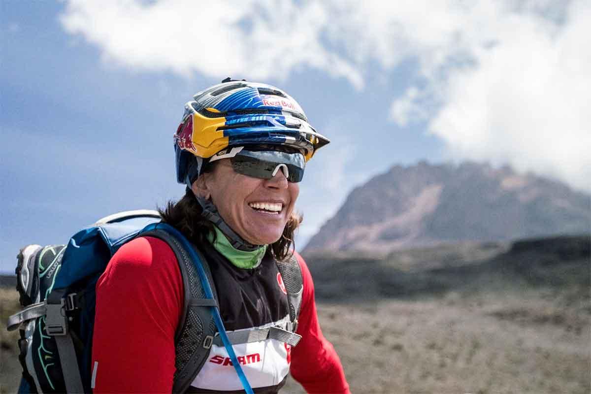 Rebecca Rusch Biking