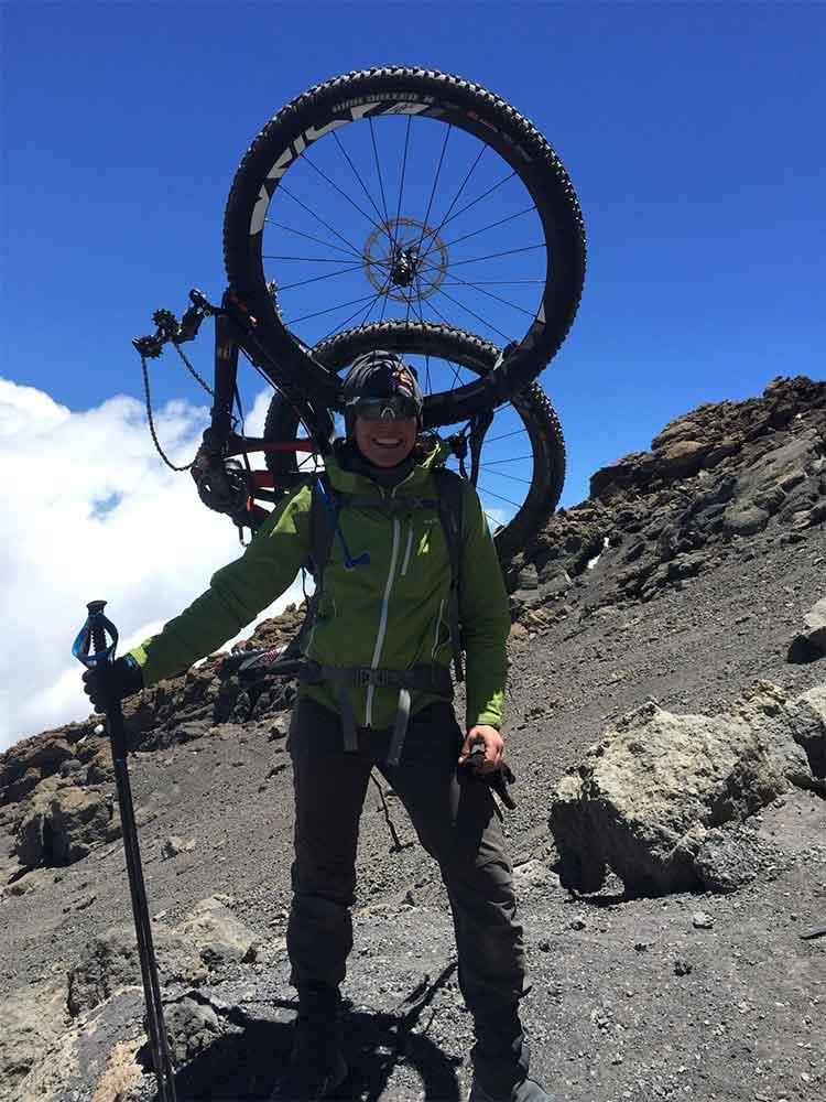 Rebecca Rusch Mountain Biking Kilimanjaro