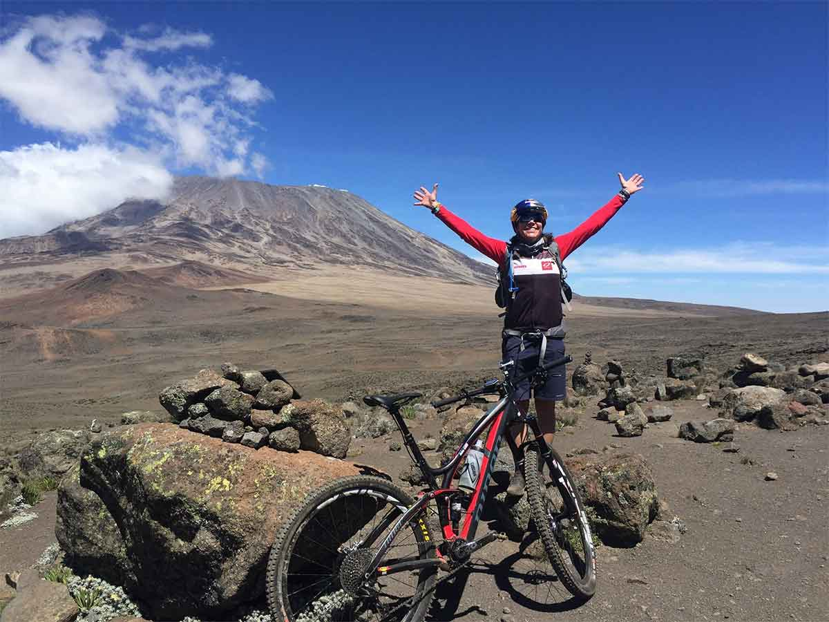 Rebecca Rusch Patrick Sweeney Mountain Biking Kilimanjaro