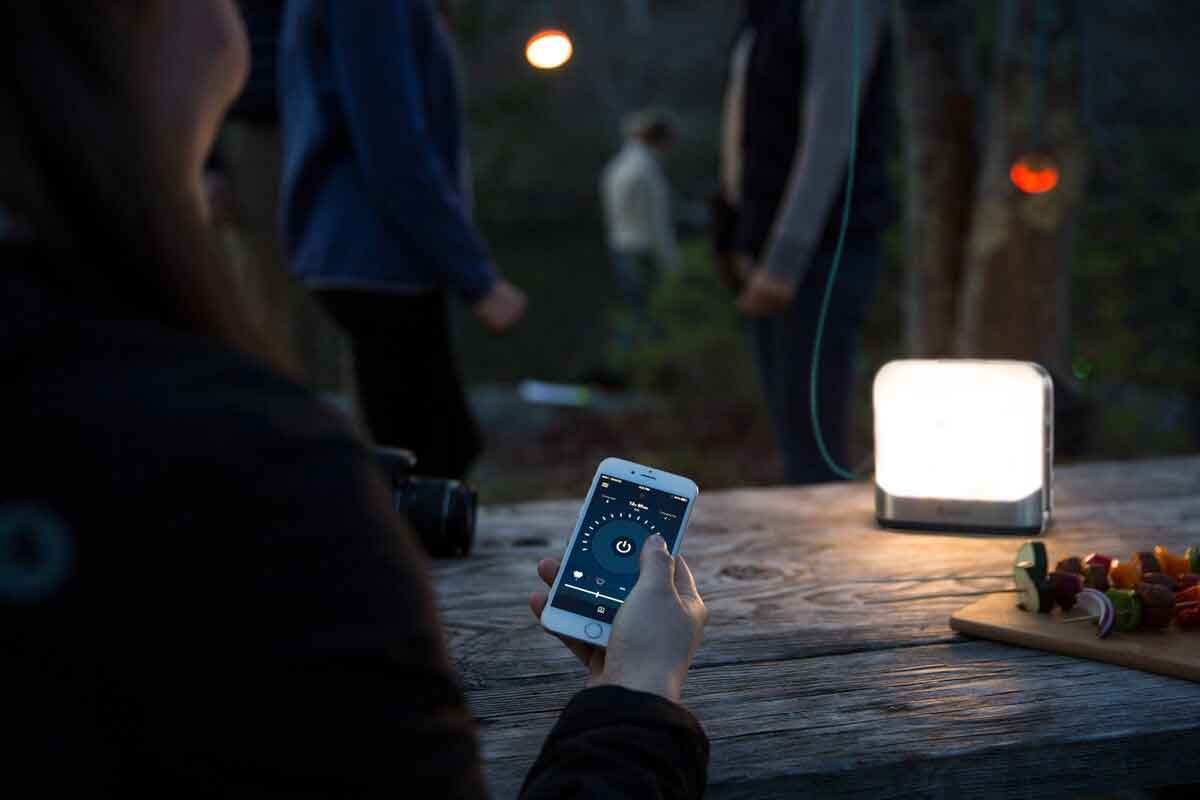 camping lantern controlled by phone app