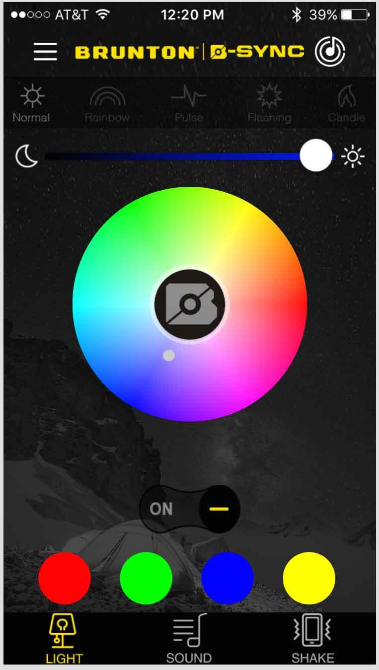 app to control camping lantern