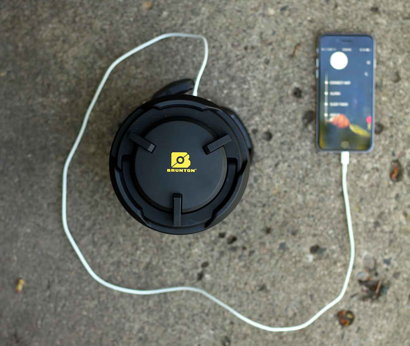 charging phone in outdoors