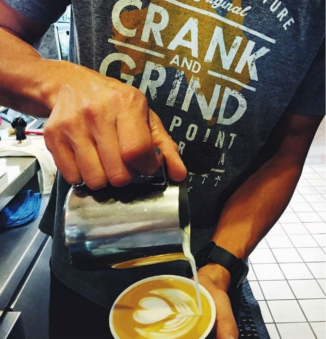 crank and grind coffee