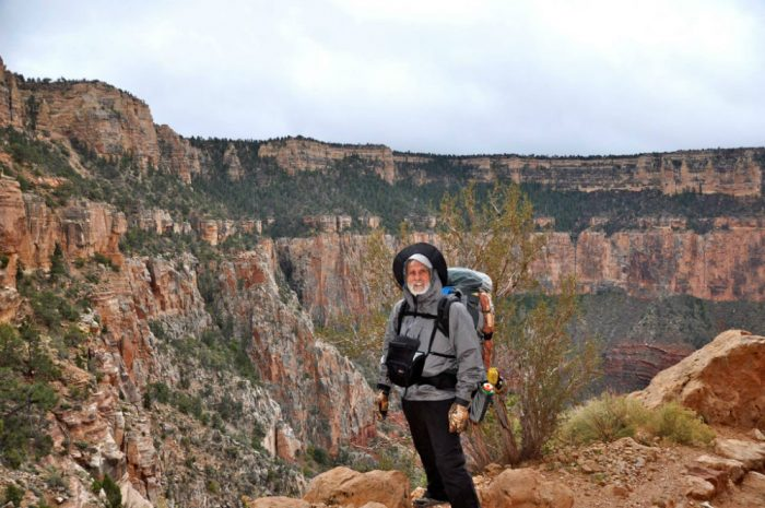 Dale hiked to rim to rim across the Grand Canyon at age 80