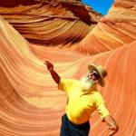 Sanders on one of his many adventures, at The Wave-Coyote Butte in Utah