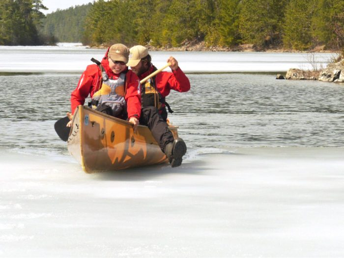 ice out canoe bwca