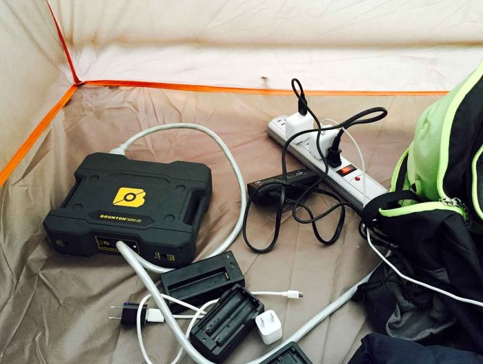 battery in tent & Review: u0027Brick Toughu0027 Power Unit From Brunton