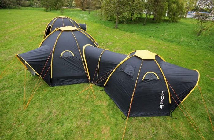 pod tents connected