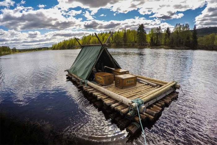 swedish river raft