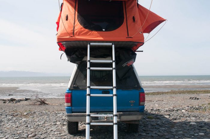 tepui car top tent ladder-1