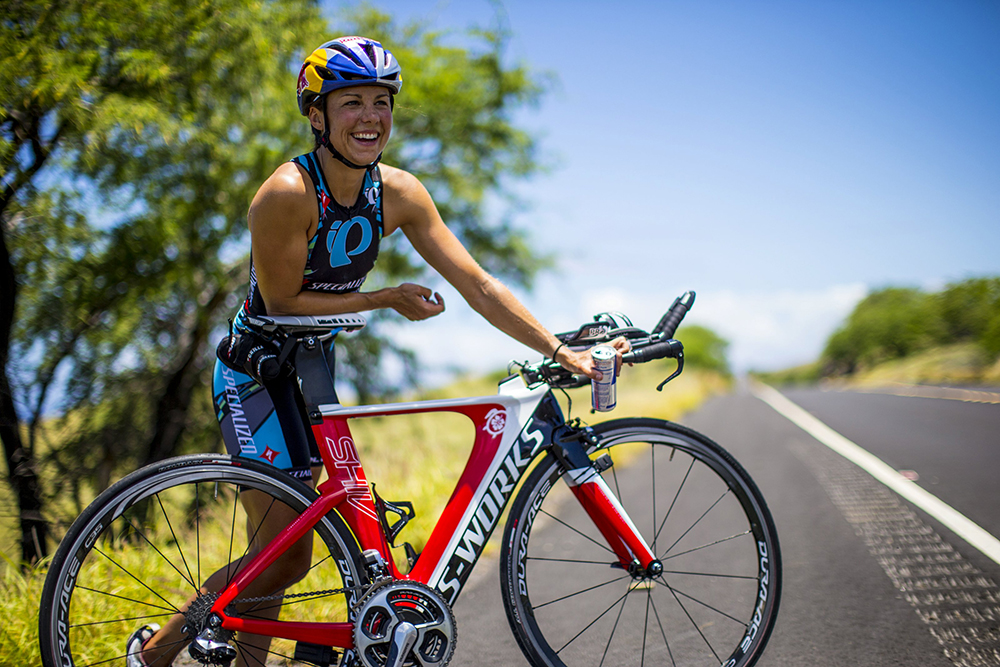 Pro triathlete Angela Naeth is fueled, in part, by Red Bull, one of her sponsors. Photo by Zak Noyle/Courtesy of Red Bull