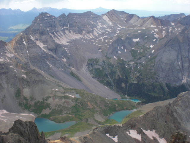 Blue Lakes from Mt. Sneffels
