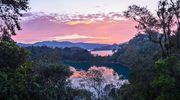 Sunset over Chiapas, Mexico
