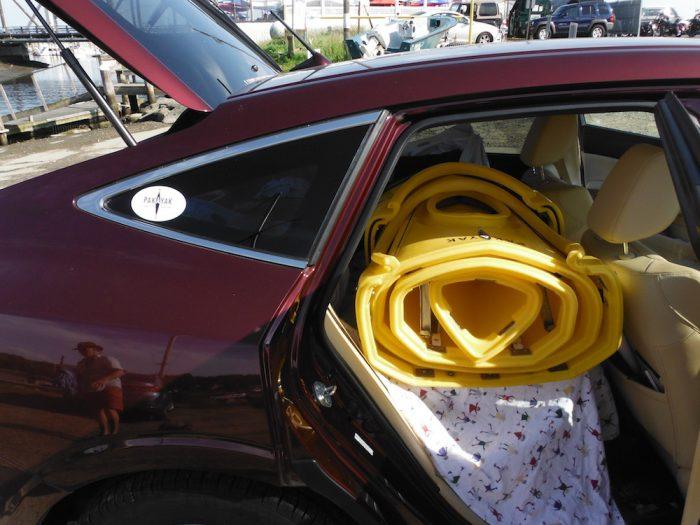 pakayak bluefin 14 inside car