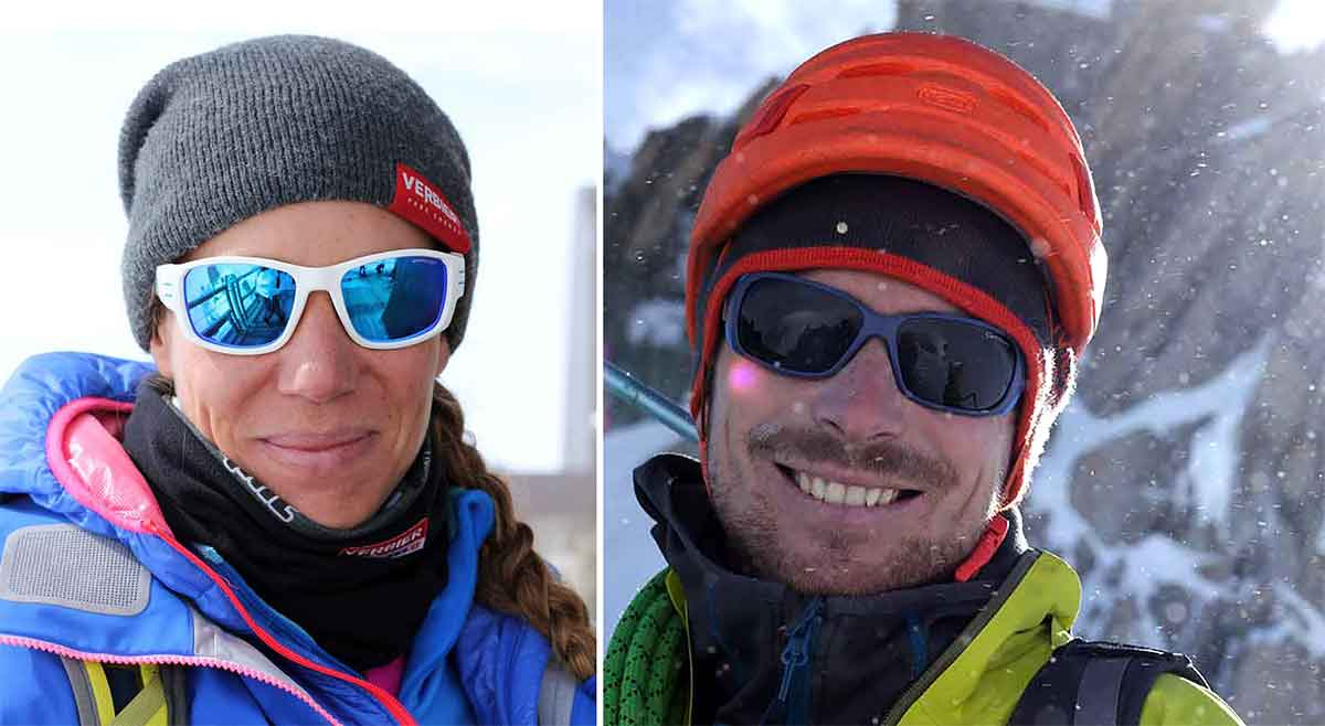 climbers Geraldine Fasnacht and Vivian Bruchez