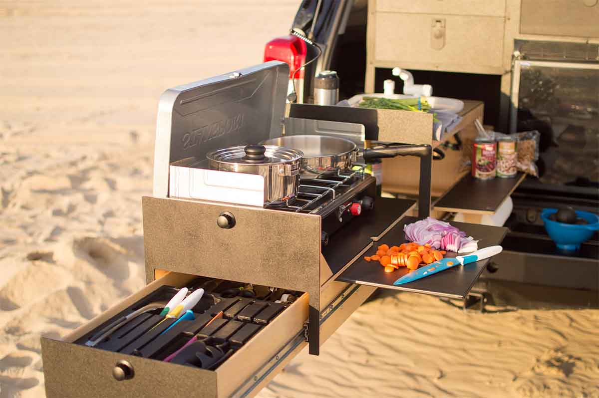 Slide Out Truck Kitchen For Overland Vehicles Gearjunkie