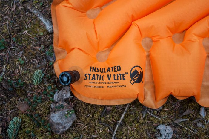 klymit static v lite inflation
