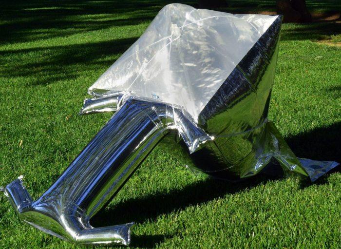 silver balloon solar cooker
