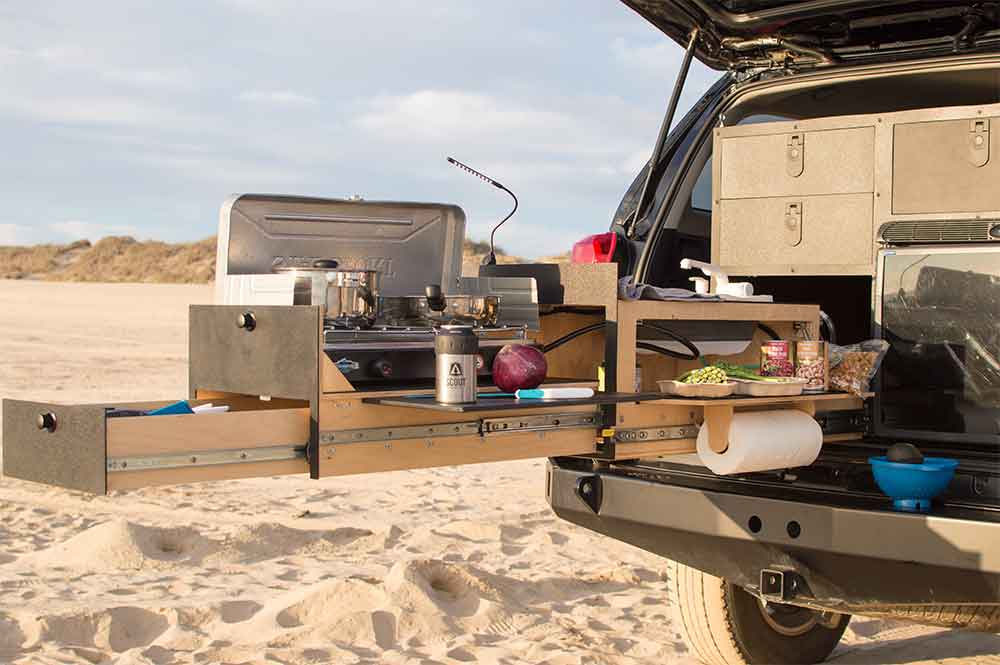 4runner Camper Conversion >> Slide-Out 'Truck Kitchen' For Overland Vehicles