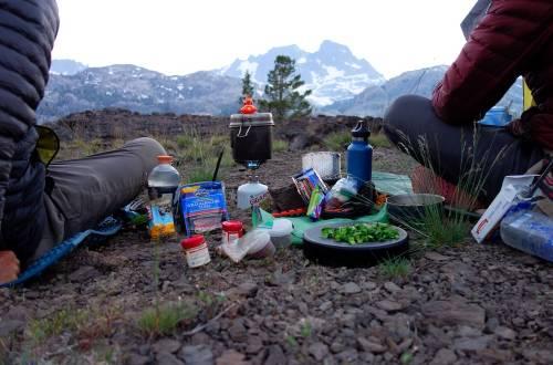 thru-hiking dinner