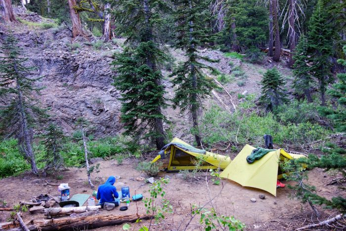 camping on the PCT