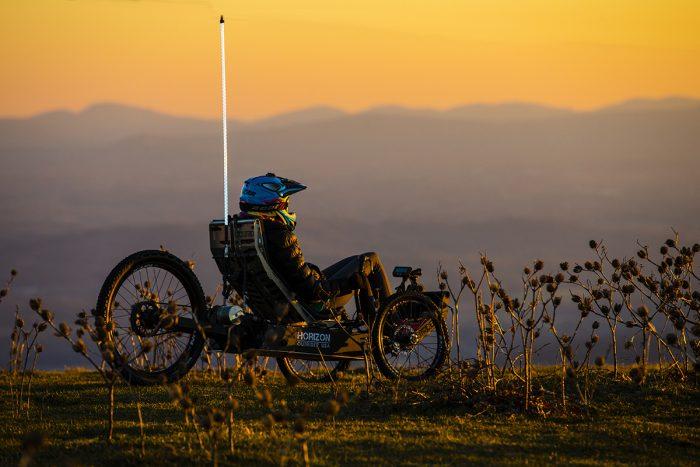 The Alpha and Horizon riding on Bearwallow Mountain, NC.