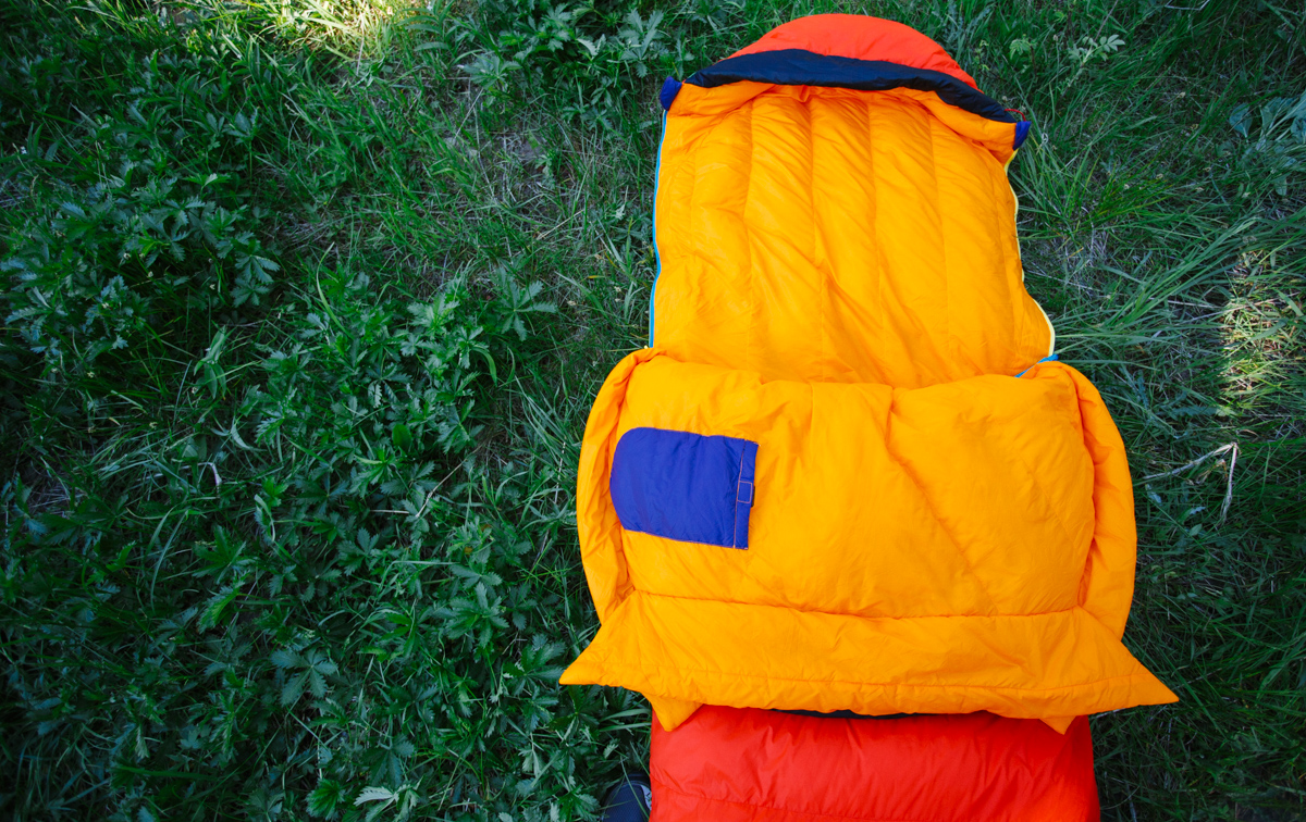 sueno sleeping bag folded down