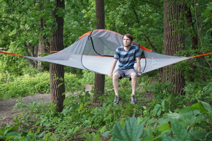 free person in tentsile flite tree tent with hanging tree tent & Hanging Tree Tent. Excellent Cacoon Hammock Cacoon Hanging ...