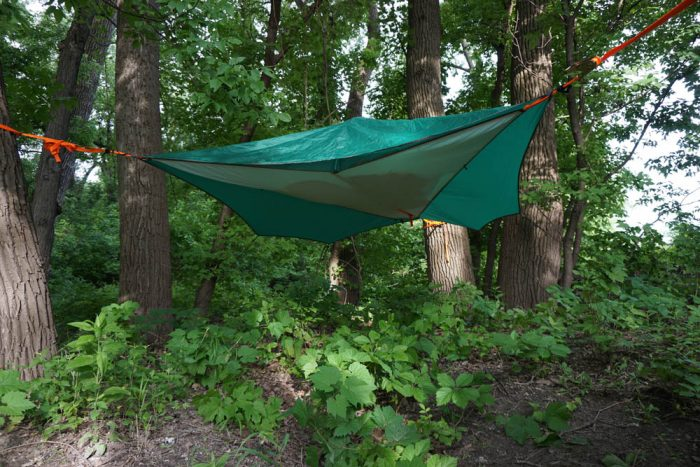 Tentsile Flite Tree Tent With Rainfly From Underneath & Mid-Air Camping: Tentsile Flite u0027Hanging Tentu0027 Review