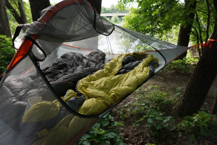 Tentsile Flite Tree Tent With Sleeping Bags & Mid-Air Camping: Tentsile Flite u0027Hanging Tentu0027 Review